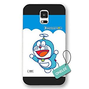 Galaxy S5 Case, [Scratch Resistant] Japanese Anime Series Doraemon Galaxy S5 Case, Frosted Black Hard Case for Galaxy S5