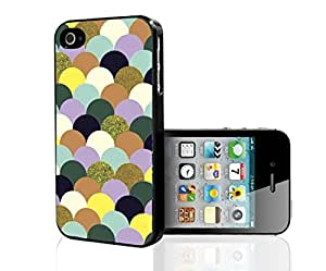 Colorful Glitter Scales Hard Snap on Phone Case (iPhone 5/5s)