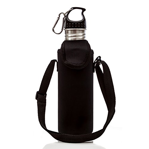 Water Bottle Strap: Stainless Steel Water Bottle With Strap & Carabiner