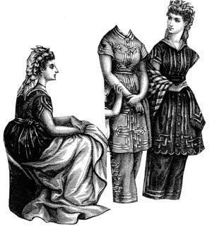 1873 3 Bathing Suits & Bathing Cap Pattern