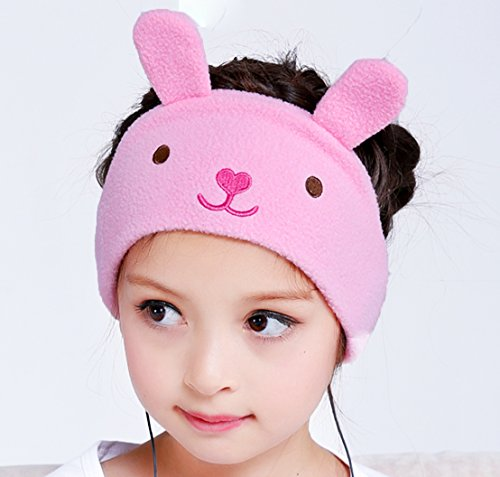 Kids Headphones - NEW RELEASE - Easy Adjustable Kids costume Headband Headphones - Super Comfortable Soft Fleece Headphones for Children, Perfect for Travel and Home - Little Bunny