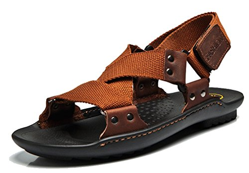 Strap Slippers Sandals Leisure New Brown Stick Magic Sandals Boys' Pointss Outdoor Beach Breathable Sandals Men's xwHTfnp