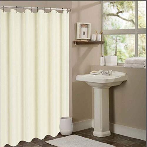 N&Y HOME Nylon Hotel Shower Curtain or Liner, Machine Washable, Water Resistant, Cream, 72 x 72 inches