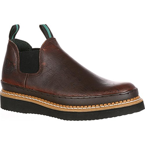 Georgia Boot Men's GR274 Giant Romeo Work Shoe, Soggy Brown, 10 W US