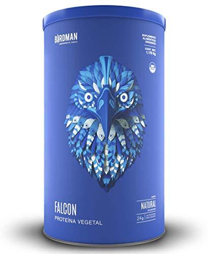 Falcon Protein Birdman Proteina Vegetal (Vegana) en polvo Certificada Organica Sabor Natural 1,170kg