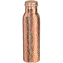 Hammered Copper Stylish Q7 Bottle Joint Free with Ayurvedic benefited 100% pure & Leak Proof Bottle