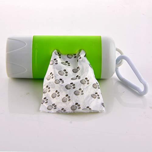 Image of LPET 2Packs LED Flashlight Dog Waste Bag Dispenser Holder with Pet Waste Bag Poop Roll Bags