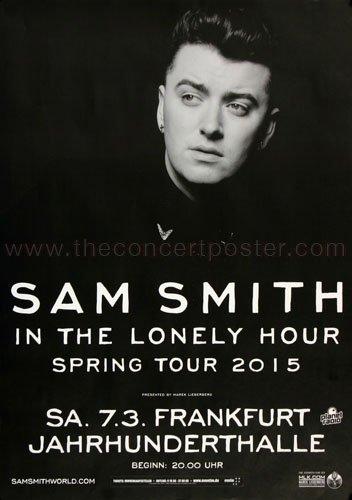 Sam Smith - Lonely Hour Fra 2015 - Concert Poster