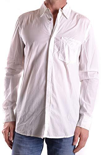 - MARITHÈ + FRANÇOIS GIRBAUD Men's Mcbi27946 White Cotton Shirt