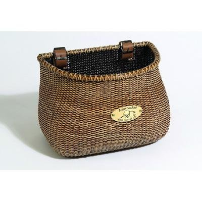 Nantucket Bicycle Basket Co. Lightship Collection Adult Bicycle Basket, Classic/Tapered, Stained (Fine Baskets)