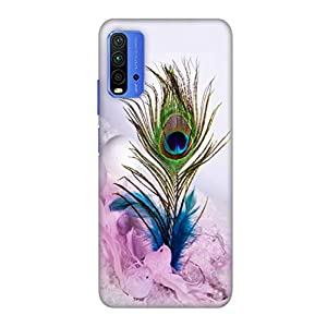 COOLET Peacock Feather $ Printed Hard Back Case and Cover for Redmi 9 Power Stylish Cover for Your Smartphone