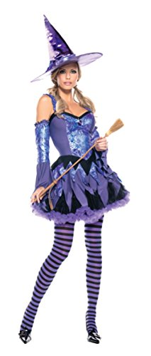Be Wicked Womens Sexy Seductive Be Wicked Gypsy Witch Theme Halloween Costume, Medium/Large (8-12)