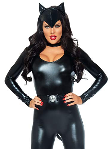 Leg-Avenue-Womens-3-Piece-Frisky-Feline-Catsuit-Costume