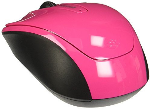 Microsoft 3500 Wireless Mobile Mouse, Magenta Pink (GMF-00278) - Microsoft Pink Wireless Mouse