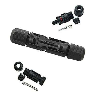 VIKOCELL 30A MC4 Male/ Female Solar Panel Cable Connectors Double Seal Rings for Better Waterproof Effect