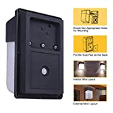 JJC LED Wall Pack Light with Photocell,28W(150-250W Replacement),2800LM 5000K-Daylight Dusk to Dawn LED Outdoor Lighting,100-277V ETL Listed&DLC Certified 5-Year Warranty Outdoor Security Lights