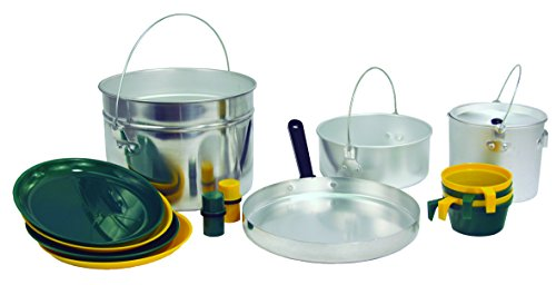 Aluminum Cookset - Texsport 16 Piece Heavy-Duty Aluminum Four 4 Person Camping Outdoor Cook Set
