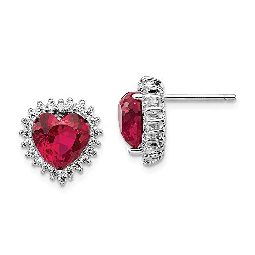 Champagne Cubic Zirconia Heart Pendant - 925 Sterling Silver 100 Facet Created Red Ruby Cubic Zirconia Cz Post Stud Earrings Ball Button Love Fine Jewelry Gifts For Women For Her