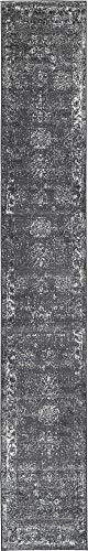 Unique Loom 3134055 Area Rug, 2' x 13' Runner, Dark Gray (Rugs Runners Cheap And)