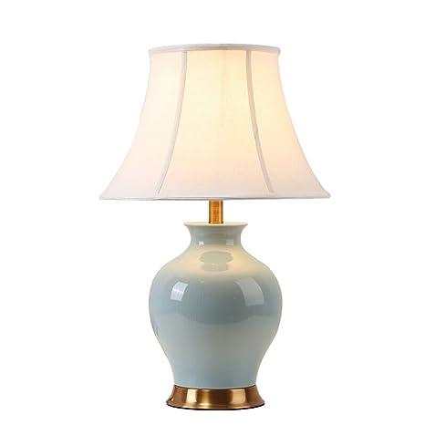 Nouveau Céramique De Tissu Lampe Chinois Style En Bureau Salon Décor N8knw0POXZ