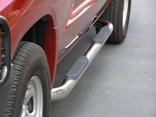 STEELCRAFT 200117 Premium FIT 88-98 CHEVY/GMC C/K Extended CAB (Incl. Z71) 2DR & 3DR 3' SIDE BARS Stainless SteelSide Step Nerf Bar Running Board
