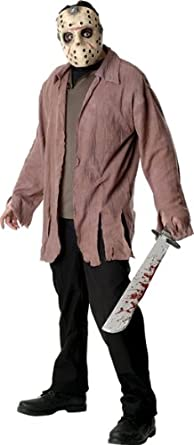 Amazon.com: Friday The 13th Jason Costume, XL, Marrón: Clothing