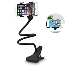 eJiasu 360 degree Rotating Universal Flexible Long Arms Cell Phone Holder Mount,Lazy Hands Free Smartphone Gooseneck Clip Holder Mobile Stand Fit on Desk,Bed,Car,Desktop,Office for iPhone 6 6s Plus 5s SE, Samsung Galaxy S7 S6 Edge S5 S4 Note5 Note4 (black)