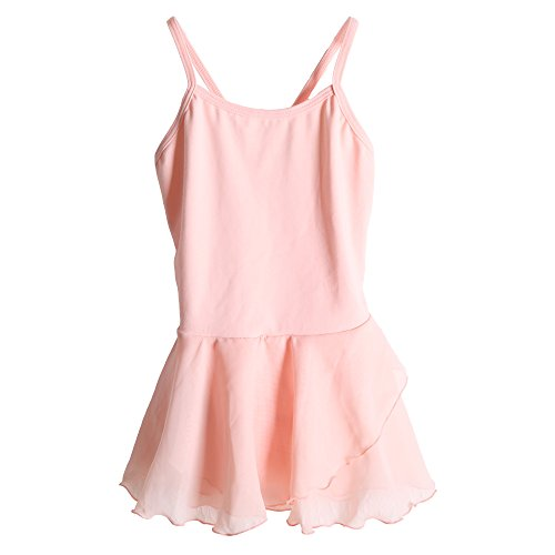 Price comparison product image Stelle Girls' Cotton Camisole Dance Dress Ballet Dress Leotard (S, Pink)