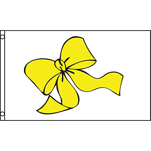 Yellow Ribbon 3x5 Polyester Flag