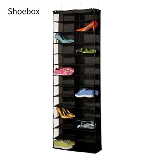 fghdf Estante del zapato del organizador del almacenaje sostenedor plegable colgante de la puerta del armario 26 de bolsillo