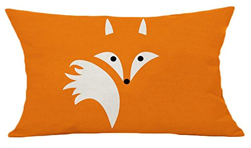 (LYN? Cotton Linen Square Throw Pillow Case Decorative Cushion Cover Pillowcase for Sofa Color Fox 20