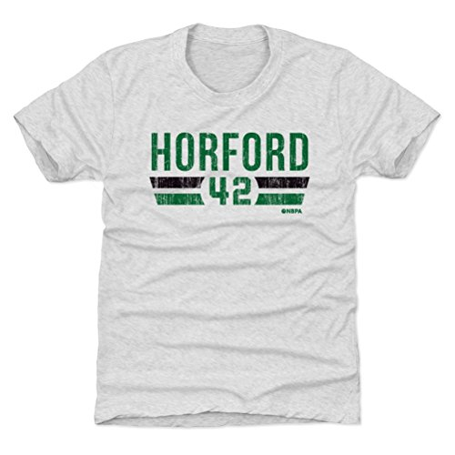 500 LEVEL Boston Basketball Youth Shirt - Kids X-Large (14-16Y) Tri Ash - Al Horford Boston Font G