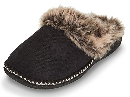 cea11519b3c Floopi Womens Indoor Outdoor Aztec Two Tone Fur Lined Clog Slipper W ...