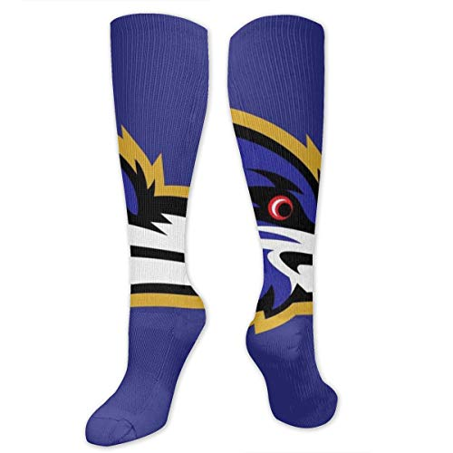 MMiioocc Winter Soccer Socks Baltimore Ravens Compression Socks For Men & Women- Athletic Fit- Best For Running,Sport,Nurse,Travel,Cycling