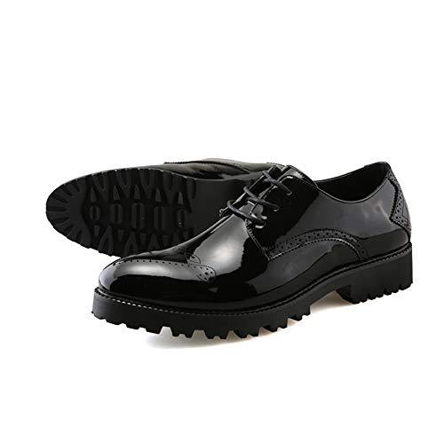 Zapatos Formales de Charol Gruesa Antideslizante Casual Oxford de Negocios para Hombres: Amazon.es: Zapatos y complementos