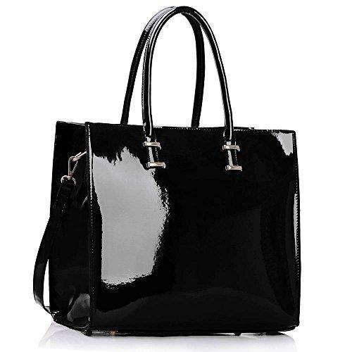 black patent leather handbag amazon
