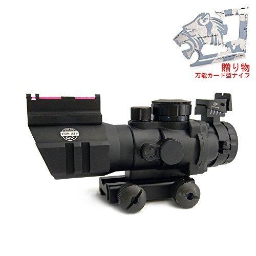4X32 Tactical Rifle Scope W/ Tri-Illuminated Reticle Fiber Optic Sight Scope Rifle/Airsoft Gun Hunting