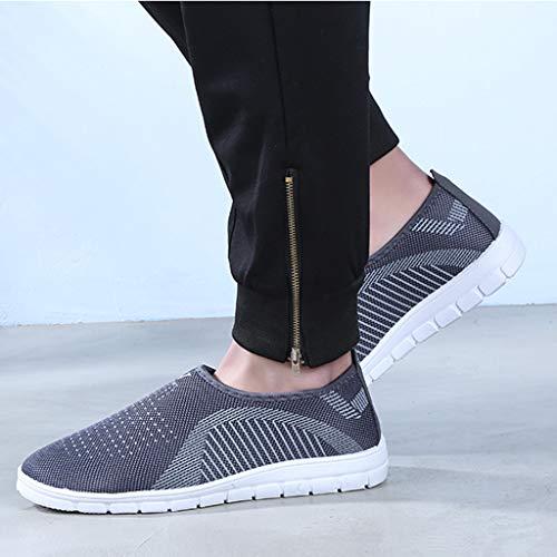 kaifongfu Men's Footwears Shoes Slip-On Sport Shoes Sneaker Comfortable Shoes(Gray,39) by kaifongfu (Image #7)