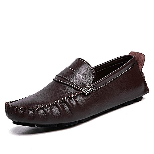 Hombre Grant Canoe Penny Loafer Slip on Moccasins Zapatos Casuales Marrón