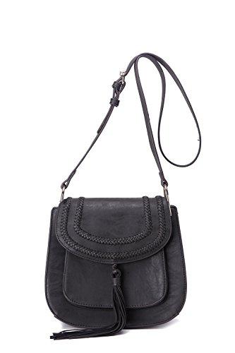 MKF Collection Penelope Crossbody Saddle Bag by Mia K. Farrow - Mia Farrow Fashion