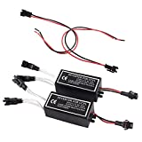 Heart Horse CCFL Inverter 12V Waterproof for Spyder Lights Compatible with BMW Angel Eye Ring Inverter Spare Ballast Halo Replacement (2 pcs)