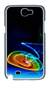 3D Color And Vignetting Custom Designer Samsung Galaxy Note 2/Note II / N7100 Case Cover - Polycarbonate - White