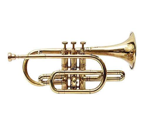 Cornet Finish B Flat Great Look & Sound With Case Mp Gold shry050 by SHREYAS