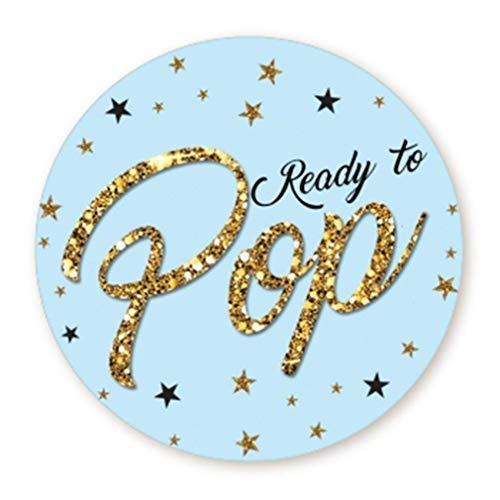 Ready to Pop Stickers | Faux Glitter |