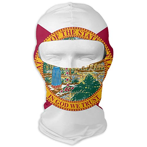 PIOL Neck Scarf Sunscreen Hats Ski Mask Florida State Flag Sun UV Protection Dust Protection Wind-Resistant Face Mask for Running Cycling -