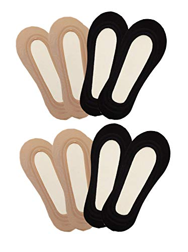 Nylon Liner - YunKo 4 Pairs Thin Ice Silk No Show Low Cut liner Socks Women Elastic Nylon Summer Sock Non Slip