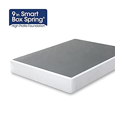 Zinus 9 Inch High Profile Smart Box Spring / Mattress Foundation / Strong Steel structure / Easy assembly required, Queen