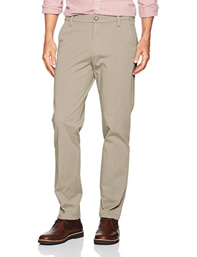 (Dockers Men's Slim Tapered Fit Workday Khaki Smart 360 Flex Pants, Safari Beige (Stretch), 28W x 28L)