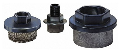 "10 Mesh, 2 LPM, 0.5 GPM, 2.3"" Diam, Female Pipe Mounted Suction Screen Strainer, 1/8 Port NPT, 1-1/2"" Long -  Flow Ezy Filters"