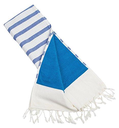 Batini Bay Turkish Beach Kikoy Towel lined with terry cloth -100% cotton fouta yoga pilates bath ()